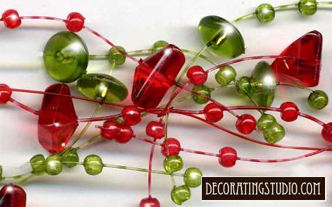 christmas beaded garland - Christmas Bead Garland