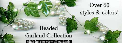 beaded garland decor
