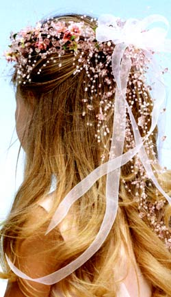 flower girl beaded hair accessory