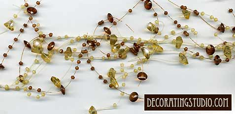 table decor beaded garland spray