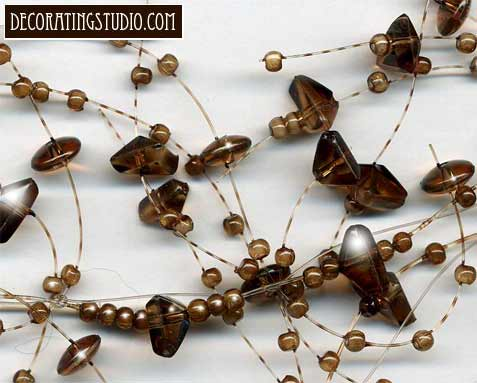 Chocolate Brown  Beaded Garland