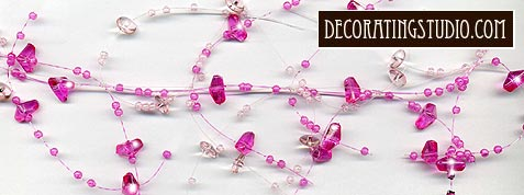 hot pink beaded floral garland