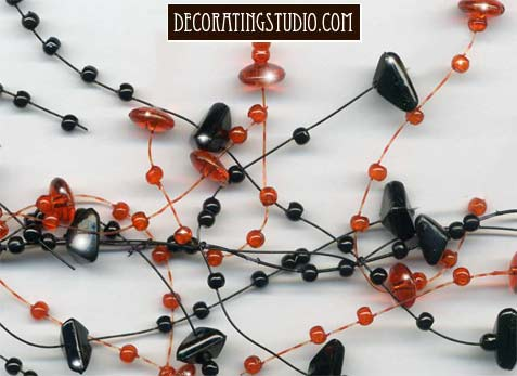 halloween beaded garland decoration