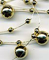 metallic gold pearl garland