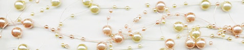pearl beaded garland ivory pink pearls