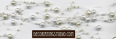 wedding table decor scatter beads