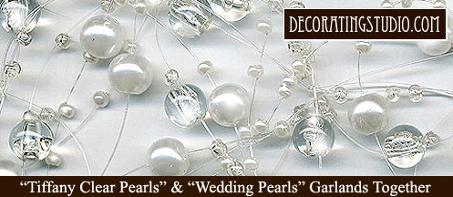 tiffany pearl and wedding pearls garland used together