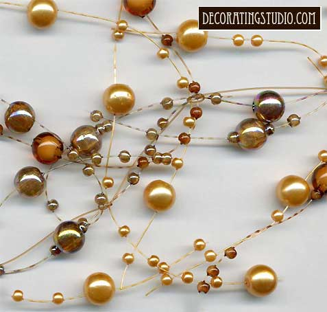 topaz pearl beaded garland
