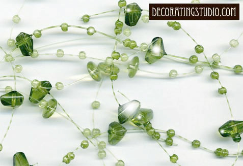 green beaded garland