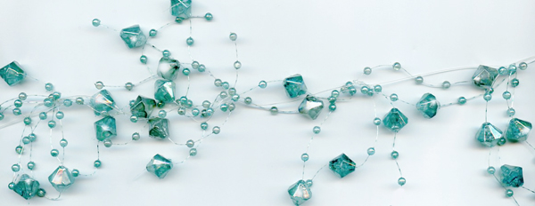 turquoise beaded garland