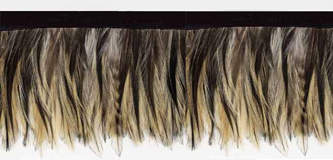 feathered beige fringe