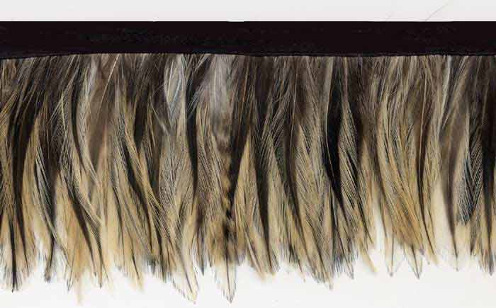 feathered beige feather trim
