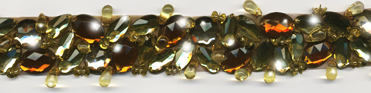 """Gold & Copper"" Berkshire Embellished Jeweled Trim - Product Image"