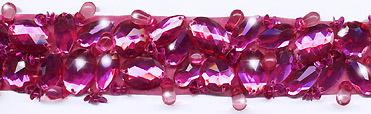 """""""Bright Fuchsia"""" Berkshire Embellished Jeweled Trim - Product Image"""