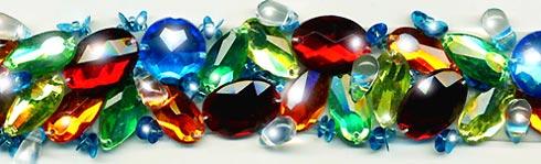 """Multi Color"" Berkshire Embellished Jeweled Trim - Product Image"