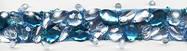 """Turquoise & Clear"" Berkshire Embellished Jeweled Trim - Product Image"