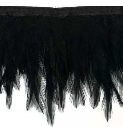 Black Feather Wing Trim
