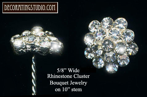 rhinestone bridal bouquet jewelry