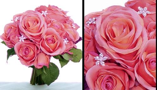rhinestone bridal bouquet jewelry stems