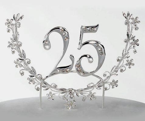 25th Anniversary Cake Topper Wreath - Product Image