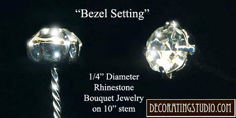 """Crystal """"Bezel"""" Bouquet Jewelry Accent (Individual Stem) - Product Image"""