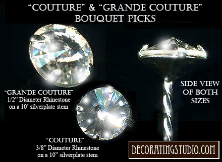"""Crystal """"Couture"""" Set of 6 Bouquet Jewelry Accents (set/6) - Product Image"""