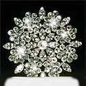 rhinestone starburst wedding cake topper