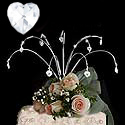 cake topper crystal hearts