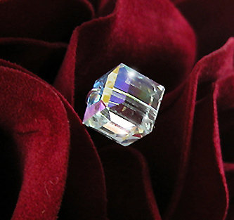 Crystal Iridescent Cube Bridal Bouquet Accent Stems