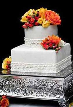 Fresh Flower Cake Topper Holder