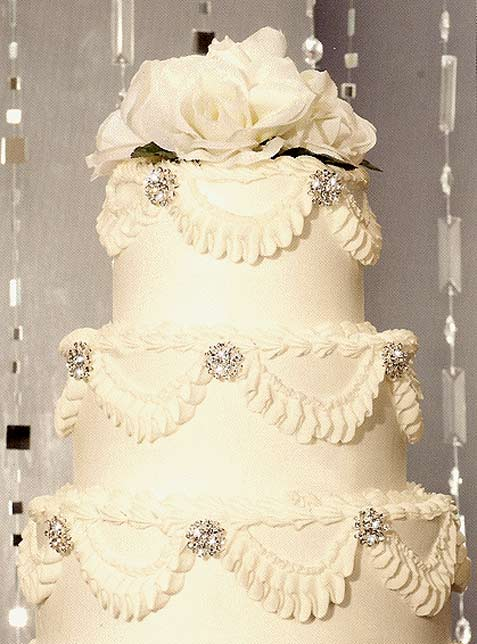 Petite Crystal Medallions Wedding Cake Jewelry