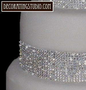 rhinestone wedding cake decoration