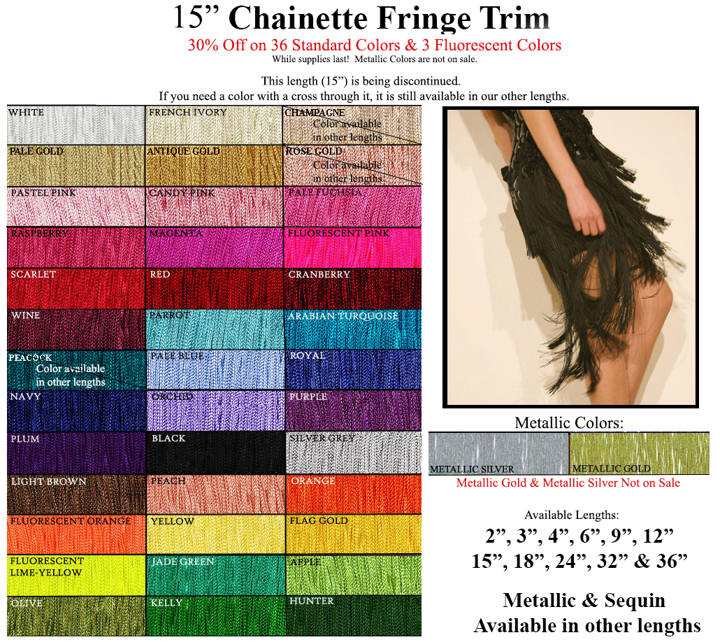 chainette fringe trim