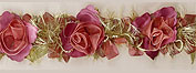 chenille flower trim pink