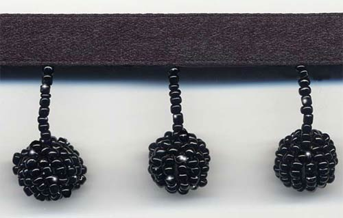 black beaded ball trim