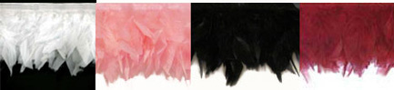 diva feather trim colors