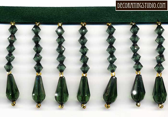 emerald green decor trim