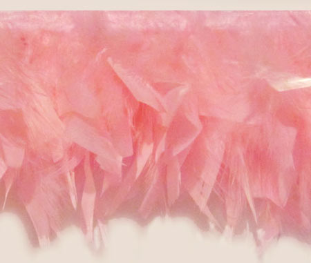 chandelle feather trim in pink