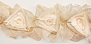 blush organza flower trim