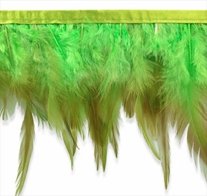 green feather fringe