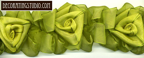 spring green organza flowers