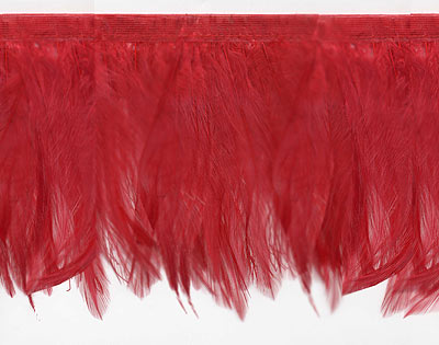 Red Las Vegas Feather Trim