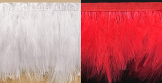 long marabou feather fringe
