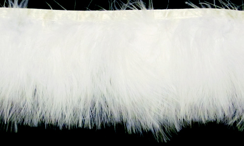 white marabou feather trimming