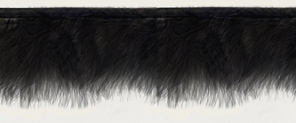 black marabou feather trim on binding