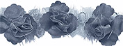 Grey Organza Flower Trim