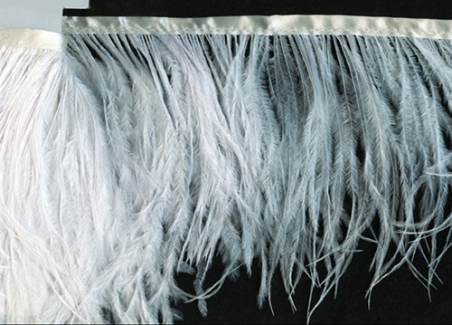 Off White Available in 25 Colors Priced per Yard Ostrich Feather Fringe Trim