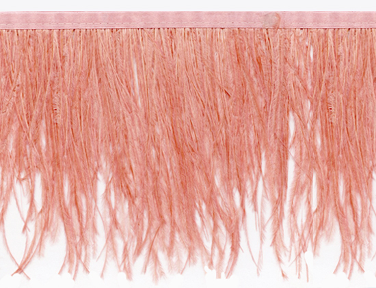 ostrich feather fringe in watermelon