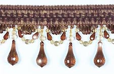 paris beaded trim in Brown