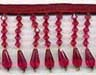 burgundy decor beaded trim